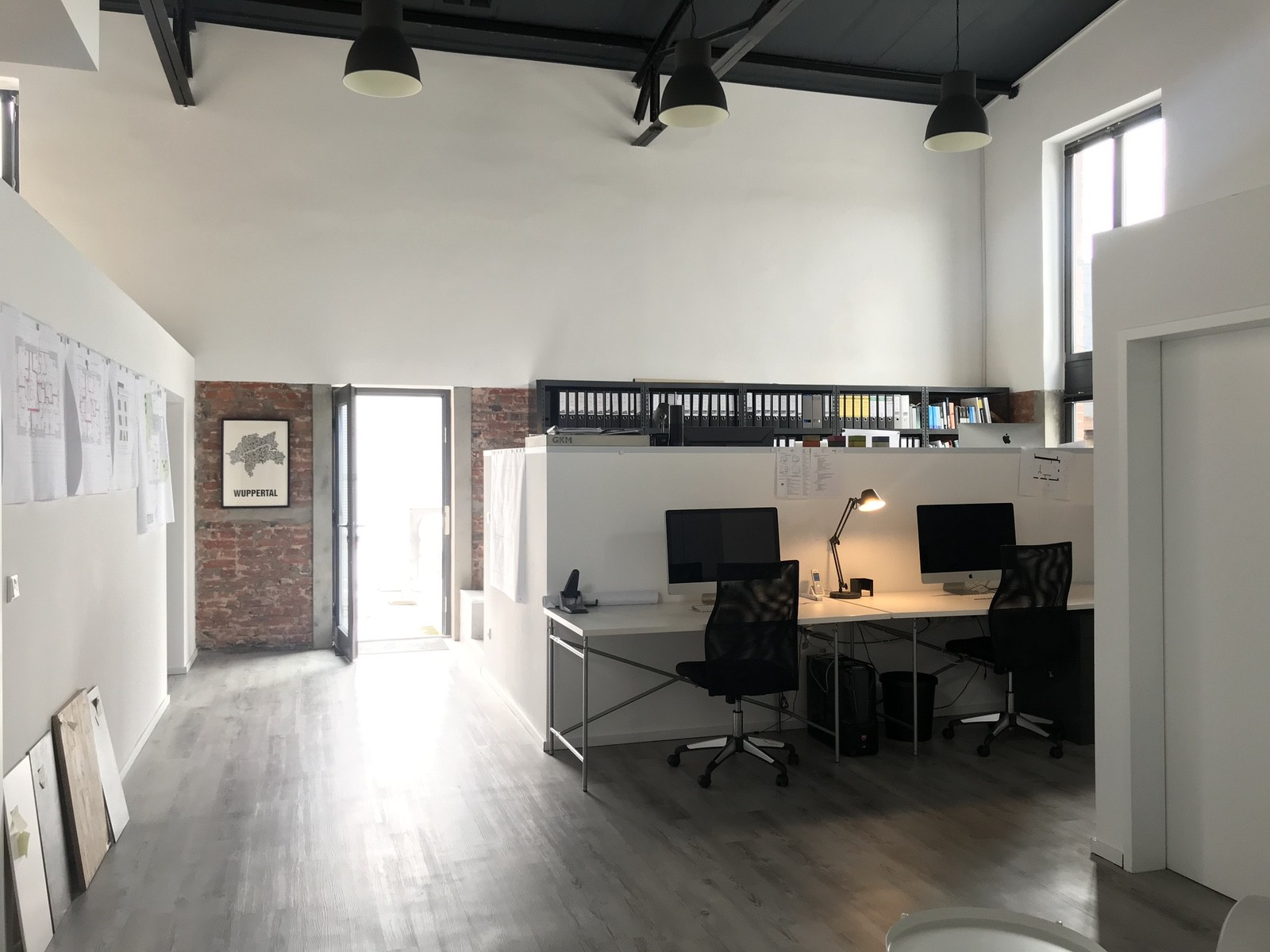 Büroräume in Bestandshalle